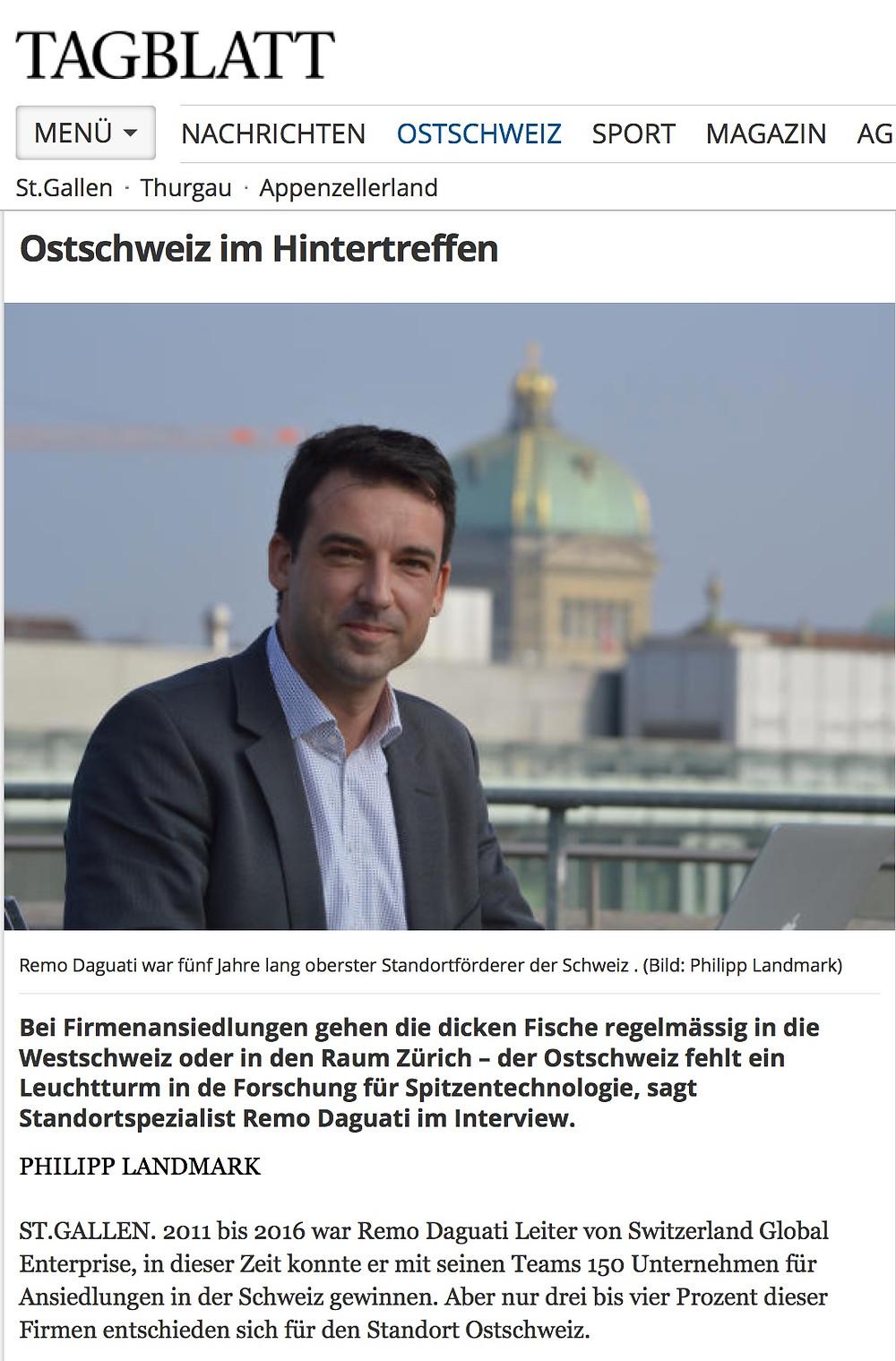 Remo Daguati LOC Tagblatt Ostschweiz im Hintertreffen