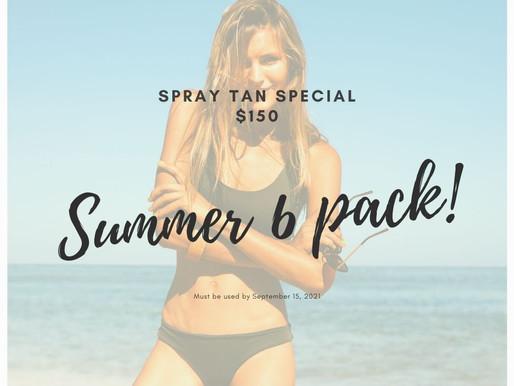 Spray Tan Special