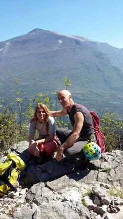 Chiara e Giuliano sul Pilastro Gabrielli