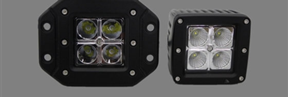 "3"" Cube LED Light Bar Single (Regular or Flush Mount)"