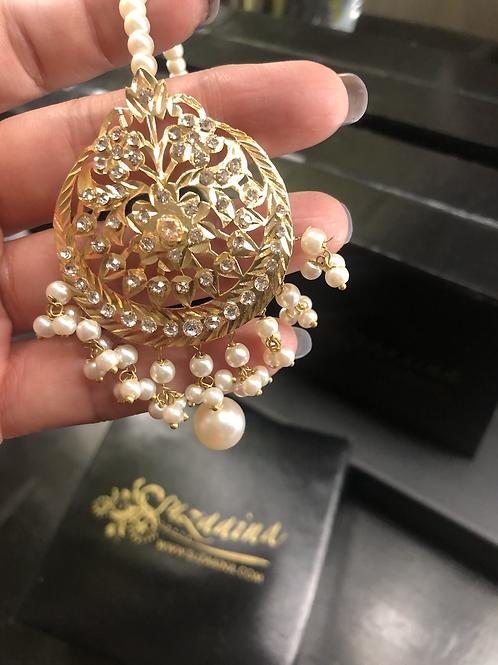 Zulaikha 22k Gold plated Pearls Bindya.