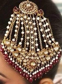 Jannat 22k Gold plated Handcrafted Kundan & Pearls Jhumer.