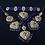 Thumbnail: Tara 22k Gold Plated Choker Bridal Set