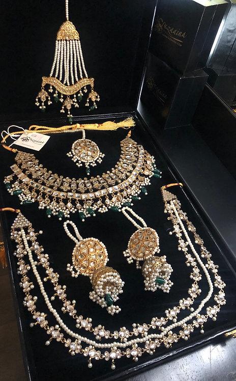Mahrukh 24k Gold plated Bridal Set with Nayaab
