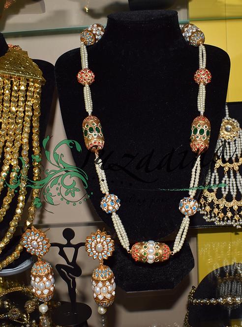 Laila Gold plated Multani Mala Set