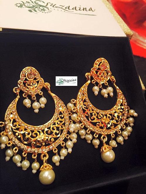 Marab 22k Gold plated Pearls Earrings.