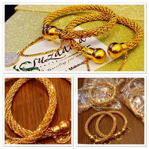 Coin 22k Gold plated Handcrafted Bangles (pair)