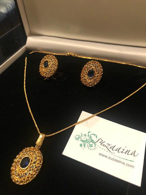 Maria 24k Gold plated Pendant Set