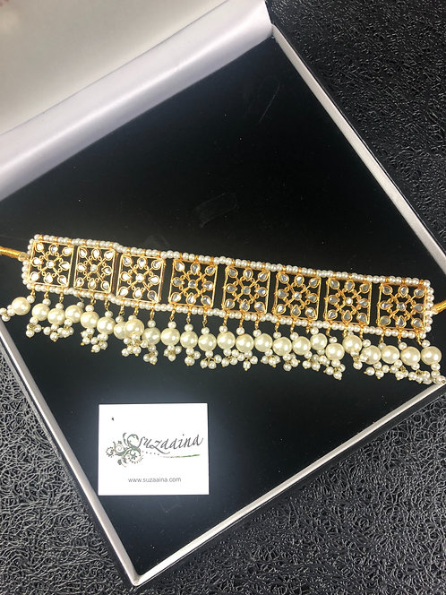 Sariha 22k Gold plated Handcrafted Kundan Choker