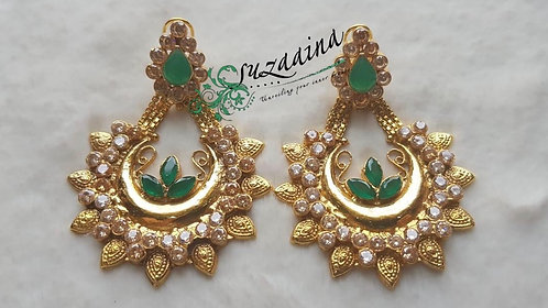 Iram 22k Gold plated Handcrafted Earrings.