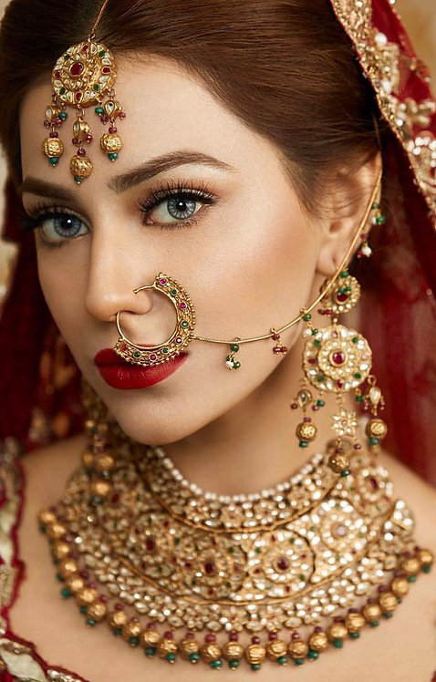 Tehzeeb 24k Gold plated Handcrafted Bridal Set.