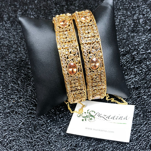 Minal 22k Gold plated Handcrafted Bangle.