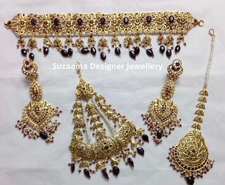 Zukrit 22k Gold plated Bridal Set.