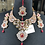 Thumbnail: Belaash 22k Gold Plated Bridal Set in Ruby stones.