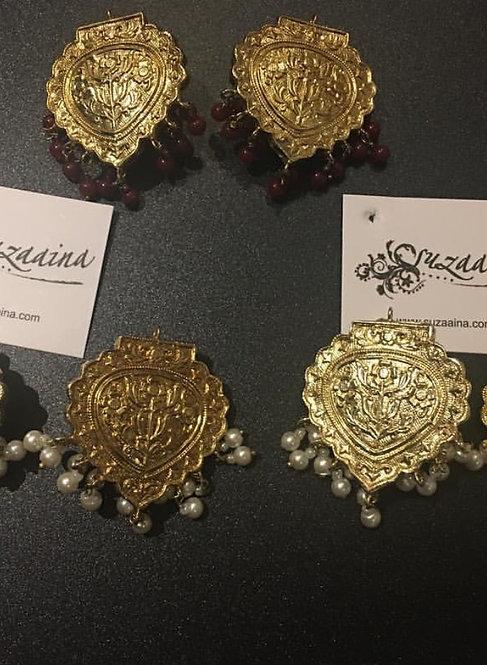 Mahi 22k Gold plated Handcrafted Earrings