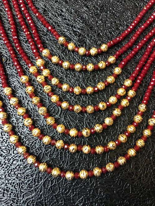Heera 22k Gold plated Handcrafted Mala
