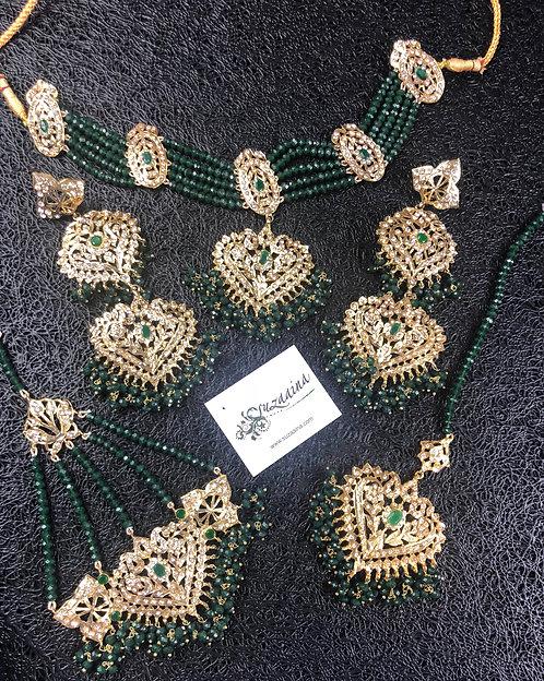 Tara 22k Gold plated Bridal Set