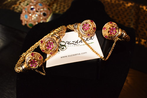 Jotin 22k Gold plated Handcrafted Bangles.