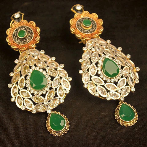 Royalty 22k Gold plated Handcrafted Earrings