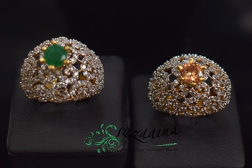 Romal 22k Gold and Rhodium plated Rings.