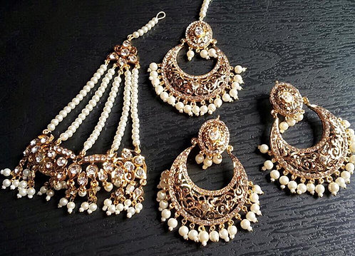 Somia 22k Gold plated Jhumar Set