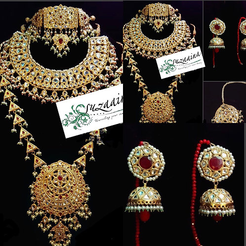 Sultani 22k Gold plated Handcrafted Grand Bridal Set.
