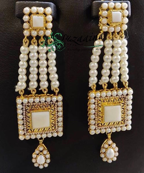 Sirat 22k Gold plated Handcrafted Earrings .