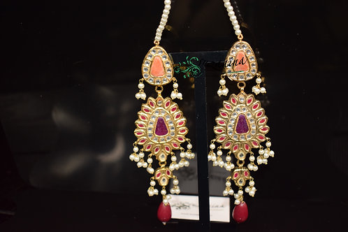 Meena 22k Gold plated Handcrafted Earrings SZER10