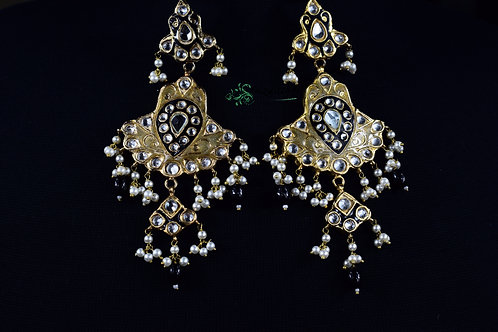 Meena 22k Gold plated Handcrafted Earrings SZER3