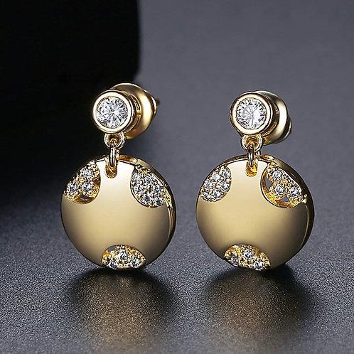 Hotter 18k Gold plated Rhinestone Earrings .