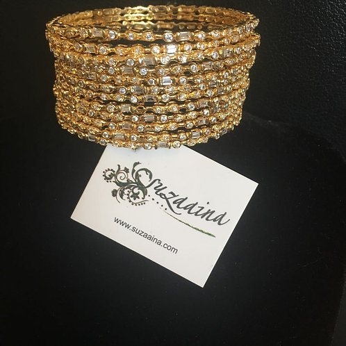 Sila 22k Gold plated Set of 12 Bangles.