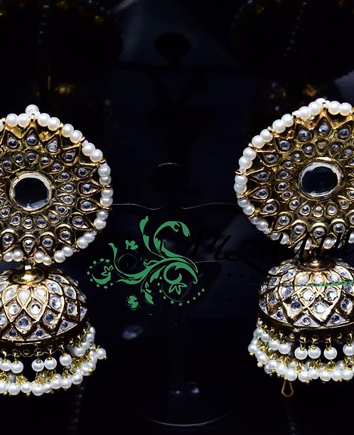 Chandermukhi 22k Gold plated Earrings