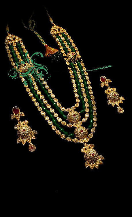Noor e Nazer 22k Gold plated Handcrafted Mala Set.
