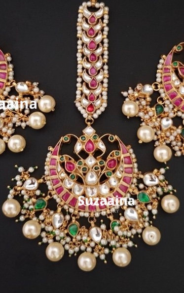 Nimrah 22k Gold plated Handcrafted Tikka