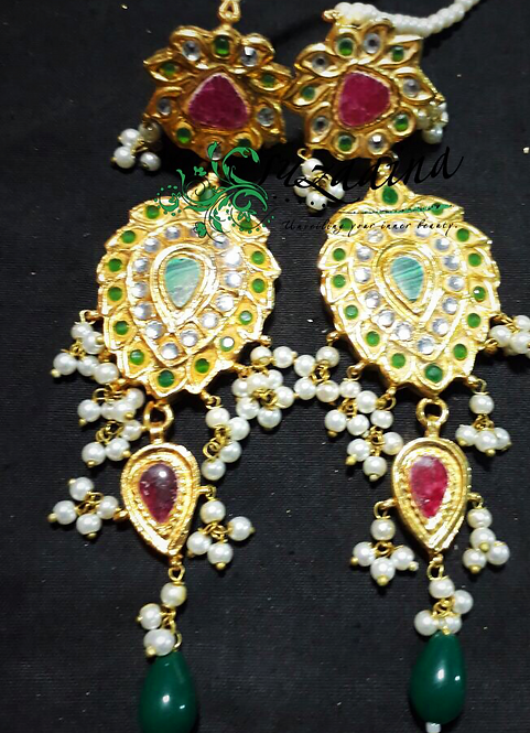 Meena 22k Gold plated Handcrafted Earrings SZER18