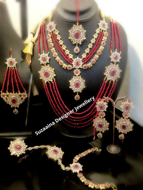 Ambania 24k Gold plated Bridal Set.
