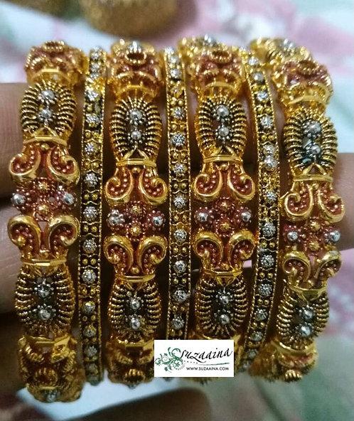 Madat 22k Goldplated Set of Bangles