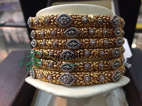 Zeenab 925 silver Bangles Gold plated Handcrafted