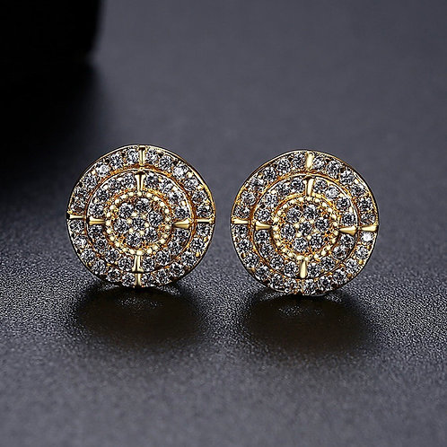 Hazel 14k Gold plated and platinum plated Earrings .
