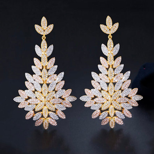 Nora 18k Gold plated Luxury Chandelier Earring
