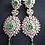 Thumbnail: Soha 22k Gold plated and Rhodium plated Earrings