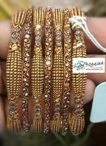 Meljan 22k Goldplated Set of bangles