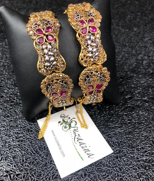 Rasha 22k Gold plated Handcrafted Bangle.