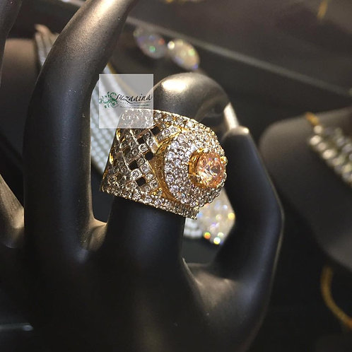Roma 22k Gold Plated Ring