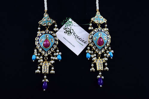 Meena 22k Gold plated Handcrafted Earrings SZER4