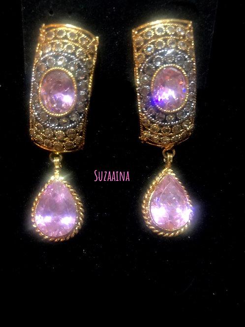 Zamun 22k Goldplated Handcrafted Earrings