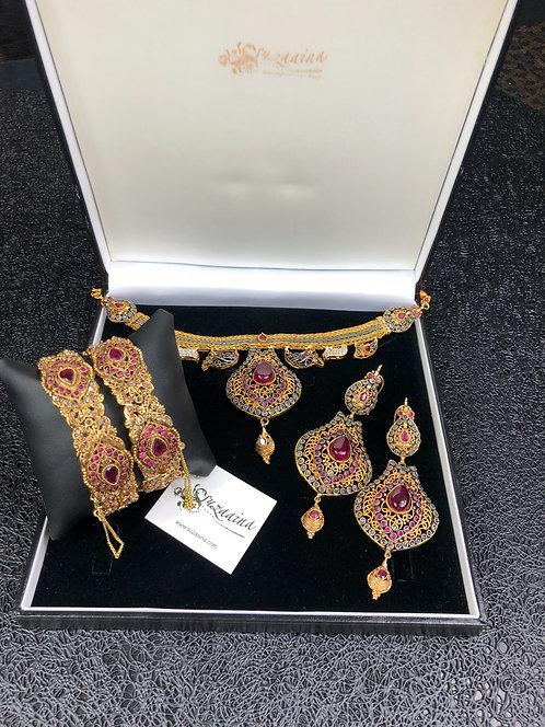 Manar 22k Gold plated Set.