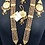 Thumbnail: Aira 22k Gold plated Handcrafted Thapa Kundan Choker Bridal Set.