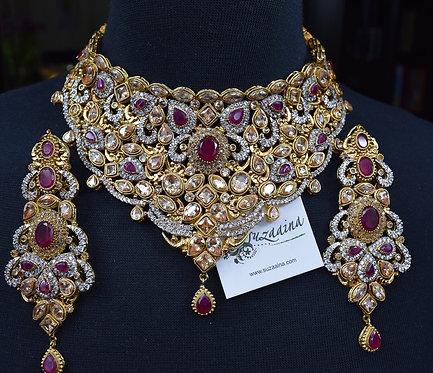 Sabeen 22k Gold Plated Handcrafted Bridal Set.