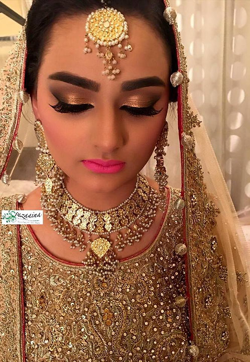 Bisma double sided Gold plated Handcrafted Bridal Set.